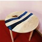 """Круглый стол с двумя речками из эпоксидной смолы """"Океан"""" от @igor_skvorechnic"""