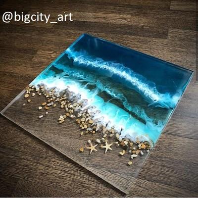 """""""Океан Момент""""  ФАСОВКА 7,8кг - 750 р/кг (смола + отвердитель) - фото 4563"""